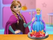 Play Anna Frozen Cake