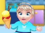 Play Baby Elsa Ice Cream