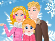 Play Barbie Family Winter Trip