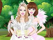 Play Barbie White Swan Bride