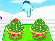 Play Christmas Tree Cupcakes