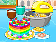 Play Cooking Colorful Cake