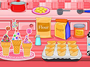 Play Ice cream cone cupcakes candy