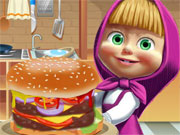 Play Masha Big Burger