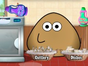 Play Pou Washing Dishes
