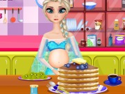 Play Pregnant Elsa Cooking Pancakes