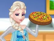Play Pregnant Elsa Cooking Pizza