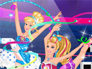 Play Super Barbie Gymnastics Contest