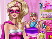 Play Super Barbie Makeup Room
